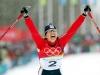 V posledním olympijském závodě kariéry získala česká běžkyně Kateřina Neumannová vytouženou zlatou medaili. V Pragelatu vyhrála běh na 30 km volnou technikou s hromadným startem.FOTO: MAFA - MICHAL RŮŽIČKA